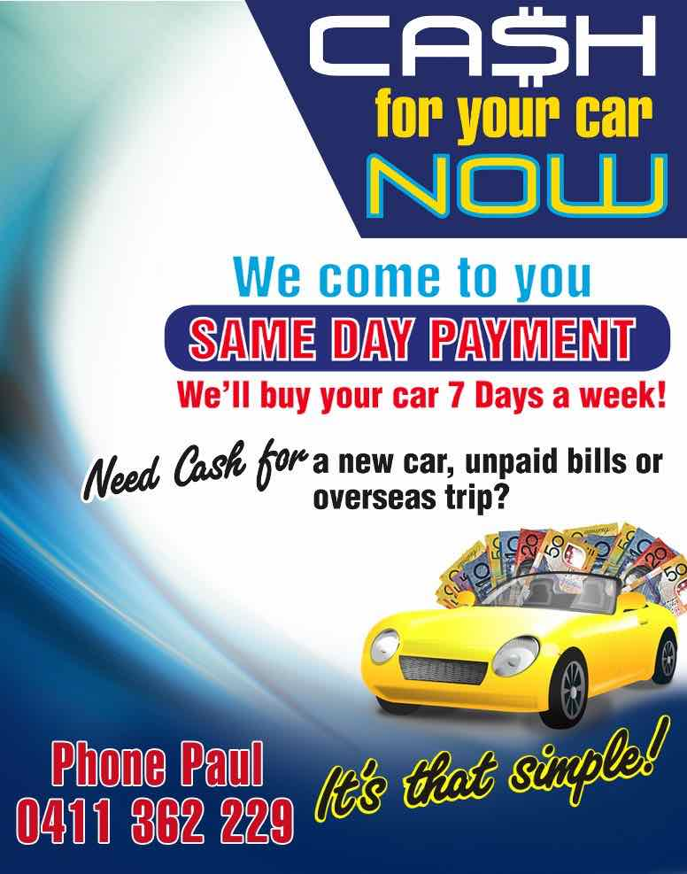 sell my car for cash brisbane over 1